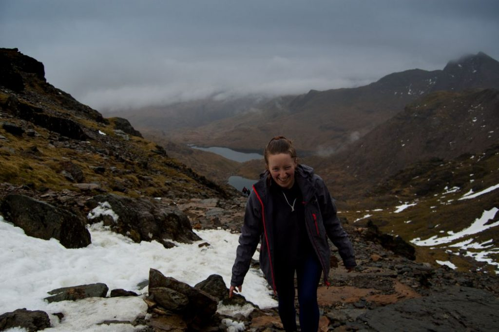 Amy walking on Mount Snowdon