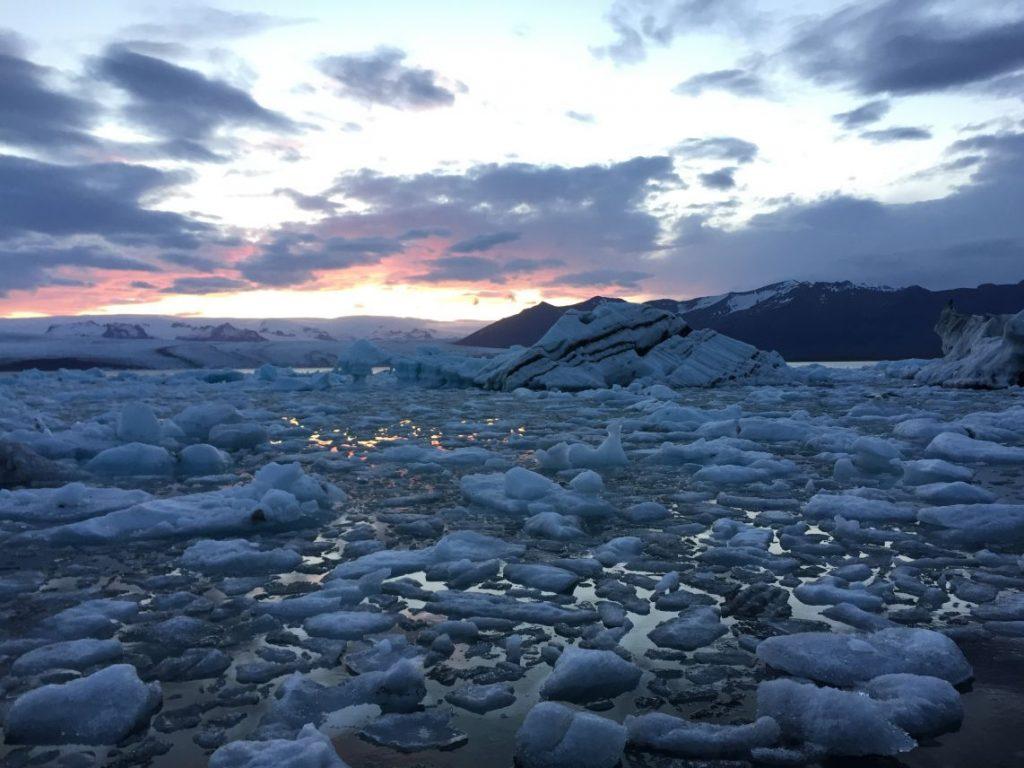 Broken pieces of an iceberg