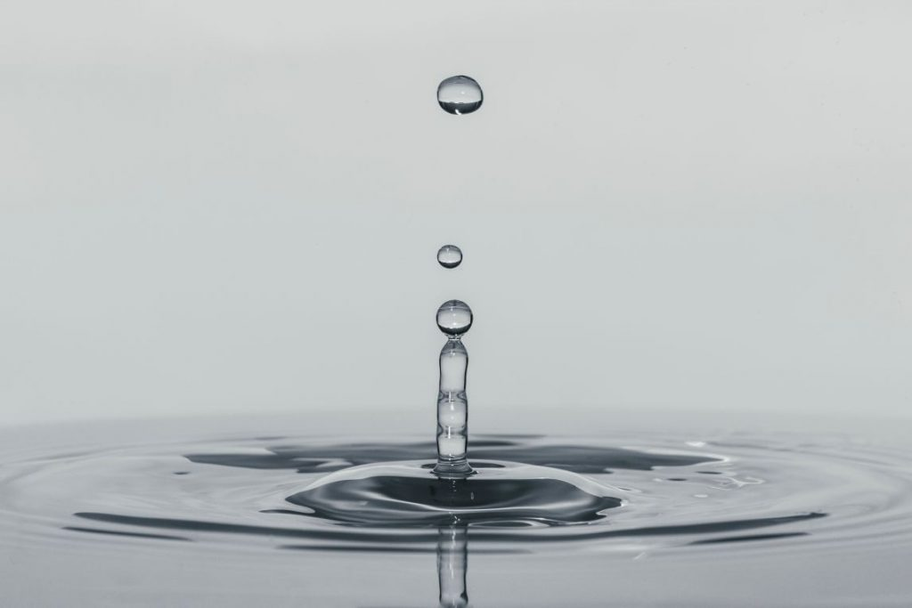 Water droplet in focus